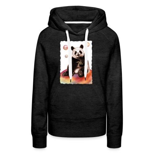 Panda World - Felpa con cappuccio premium da donna