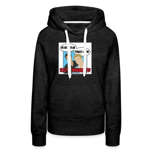rogierenfonzzshow blauw 2 - Vrouwen Premium hoodie