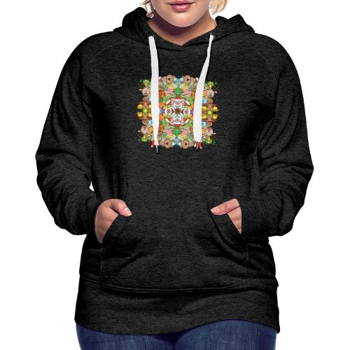 The Christmas crowd is having a great time - Women's Premium Hoodie