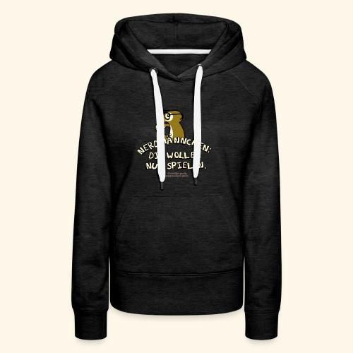 Nerdmännchen Erdmännchen Design für Geeks & Nerds - Frauen Premium Hoodie