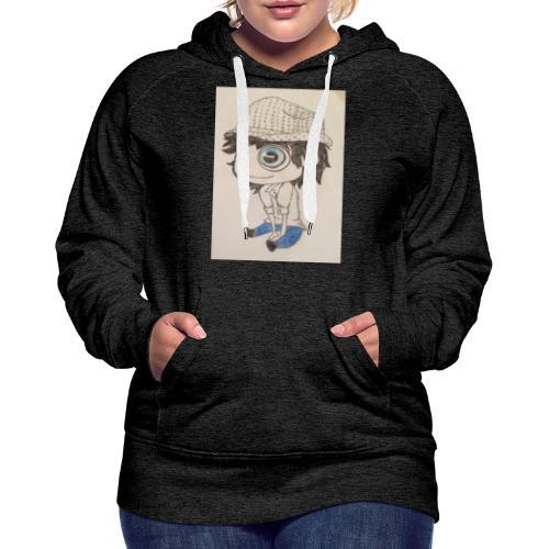 la vida es bella - Sudadera con capucha premium para mujer