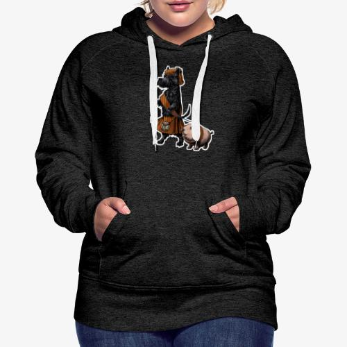 Scottie and Haggis dark t - Women's Premium Hoodie