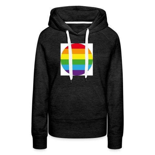 Pride Rainbow Circle - Women's Premium Hoodie