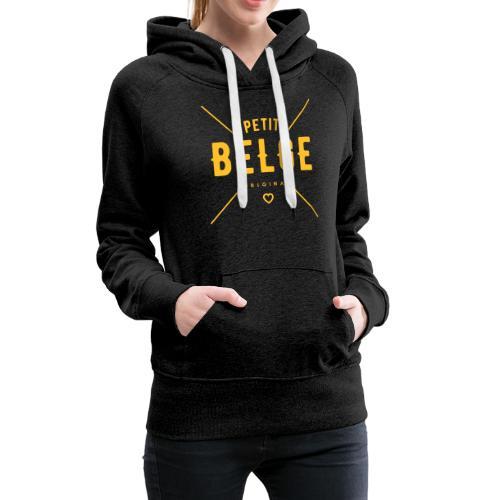 petit belge original - Sweat-shirt à capuche Premium pour femmes
