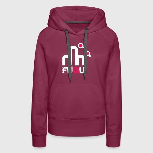 T-shirt FUQU logo colore bianco - Felpa con cappuccio premium da donna