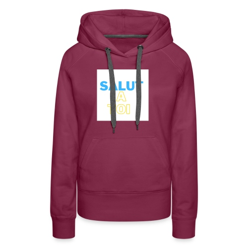 salut 1 - Sweat-shirt à capuche Premium pour femmes