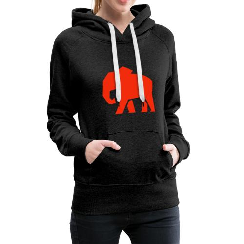 Roter Elefant - Frauen Premium Hoodie