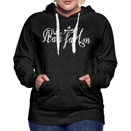 nous vivons bien! - Sweat-shirt à capuche Premium pour femmes