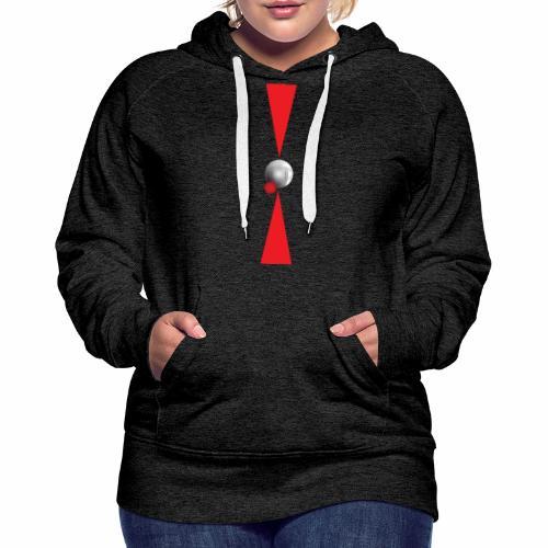Petanque Minimalisme - Sweat-shirt à capuche Premium pour femmes