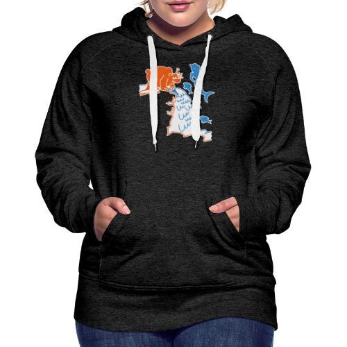 Surprised Bear - Women's Premium Hoodie