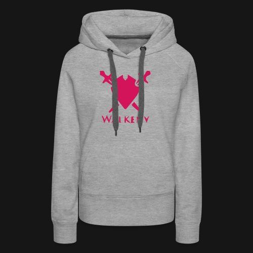 Das Walkeny Logo mit dem Schwert in PINK! - Frauen Premium Hoodie