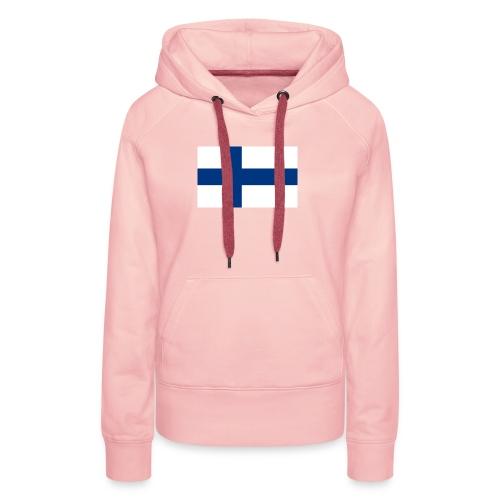 800pxflag of finlandsvg - Naisten premium-huppari