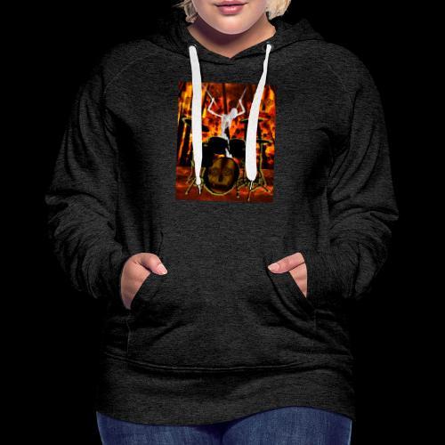LE SQUELETTE BATTEUR - Sweat-shirt à capuche Premium pour femmes