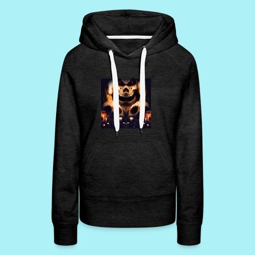 Tête de mort à la chandelle - Sweat-shirt à capuche Premium pour femmes