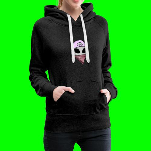 gangsta alien logo - Felpa con cappuccio premium da donna