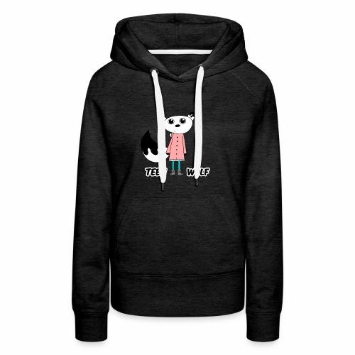Lustiger Teen Wolf mit Jacke für den Winter - Frauen Premium Hoodie