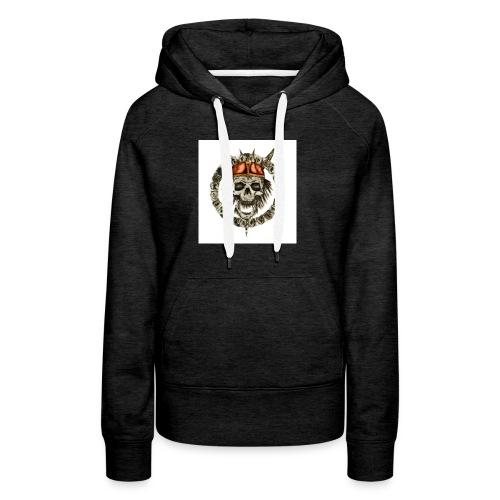 viking skull runes - Sweat-shirt à capuche Premium pour femmes