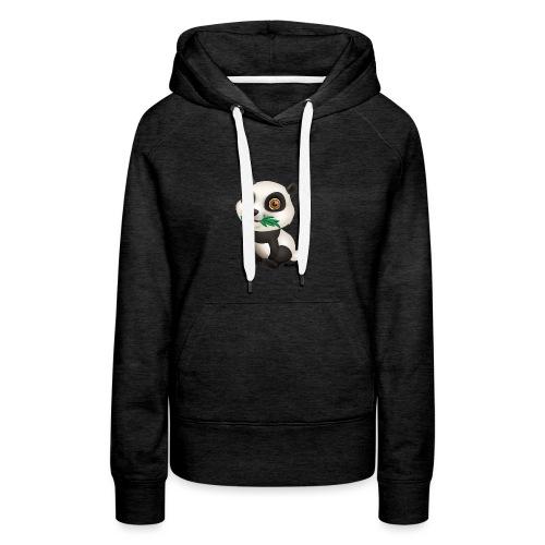 Panda - Dame Premium hættetrøje