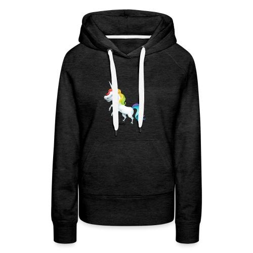 Regenboog eenhoorn - Vrouwen Premium hoodie