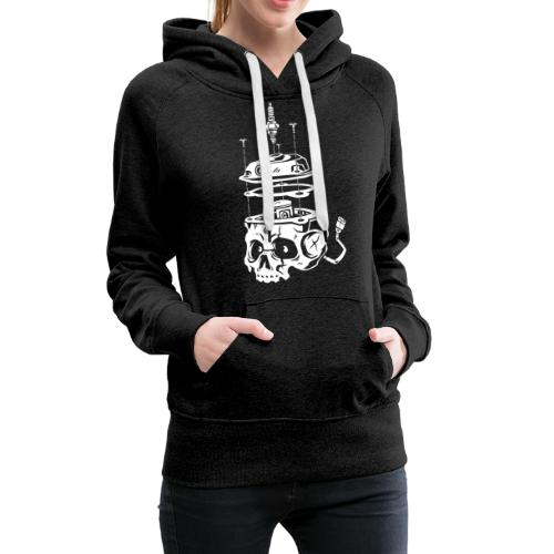 Piston_Skull - Sweat-shirt à capuche Premium pour femmes