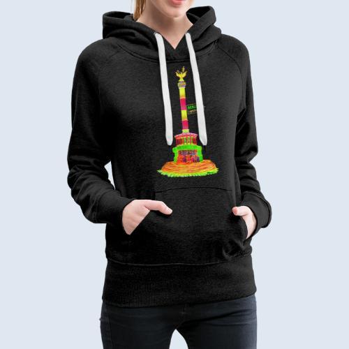 """Berliner Original """"Siegessäule"""" PopArt Design - Frauen Premium Hoodie"""