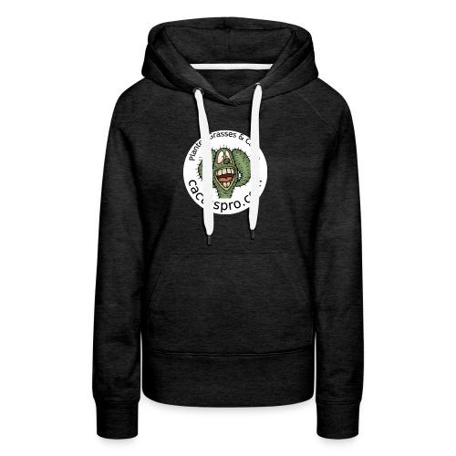 logo cf badge2 - Sweat-shirt à capuche Premium pour femmes