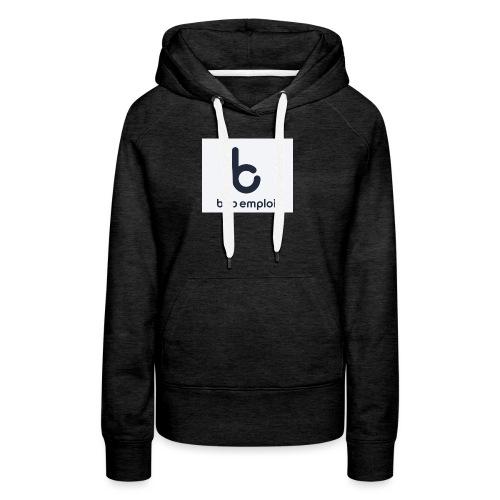 Logo_Bob_Emploi - Sweat-shirt à capuche Premium pour femmes