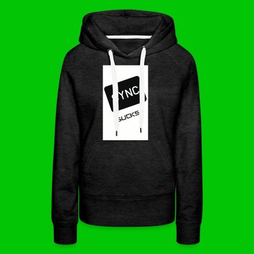 t-shirt-DIETRO_SYNK_SUCKS-jpg - Felpa con cappuccio premium da donna