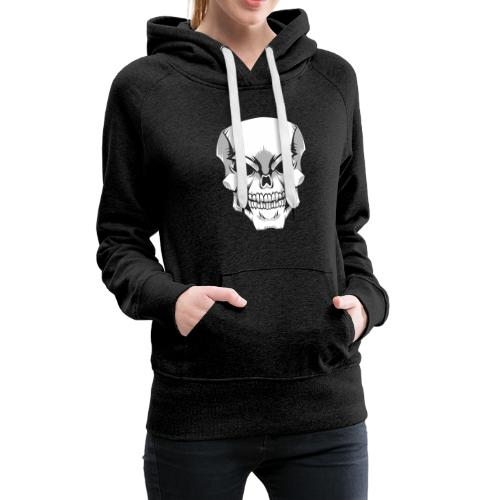 Skull - Sudadera con capucha premium para mujer