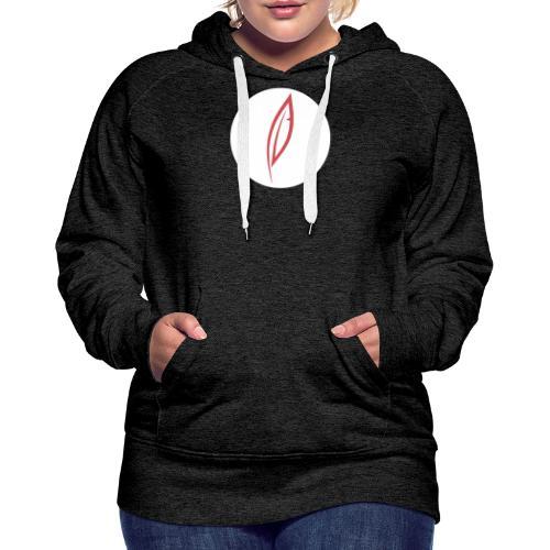 Logo - Rond blanc - Sweat-shirt à capuche Premium pour femmes