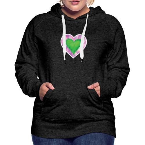 Green Heart - Women's Premium Hoodie