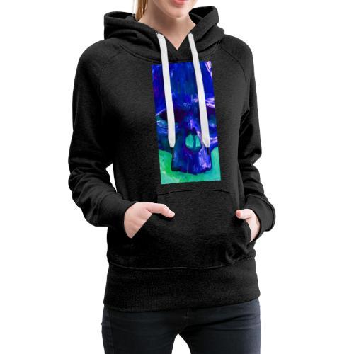 Blue Skull - Vrouwen Premium hoodie