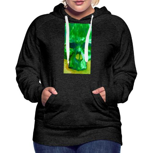 Green Skull - Vrouwen Premium hoodie