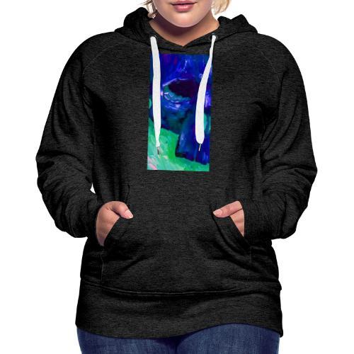 Blue Skull #2 - Vrouwen Premium hoodie