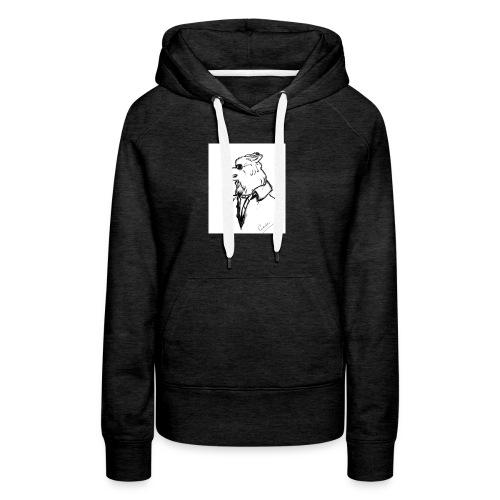 InkedThe Dog style bak LI - Sudadera con capucha premium para mujer