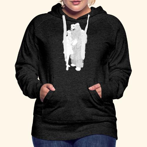 Girl with Bear - Frauen Premium Hoodie