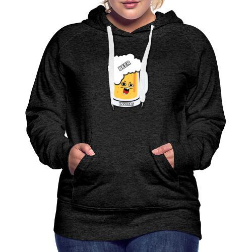 BEER INVITAS - Sudadera con capucha premium para mujer