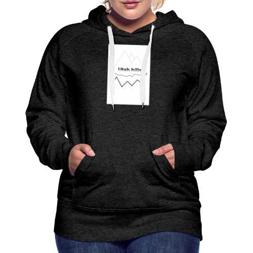 Utah hills - Dame Premium hættetrøje