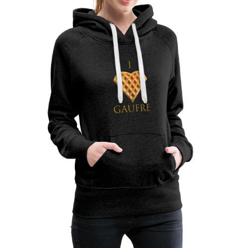 i love gaufre - Sweat-shirt à capuche Premium pour femmes