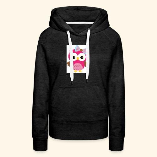 Girly Owl - Women's Premium Hoodie
