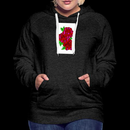 Roses with a kente design - Women's Premium Hoodie