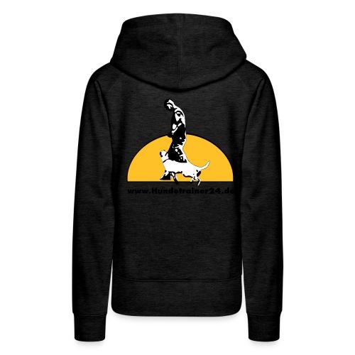 logo gelb schwarz - Frauen Premium Hoodie