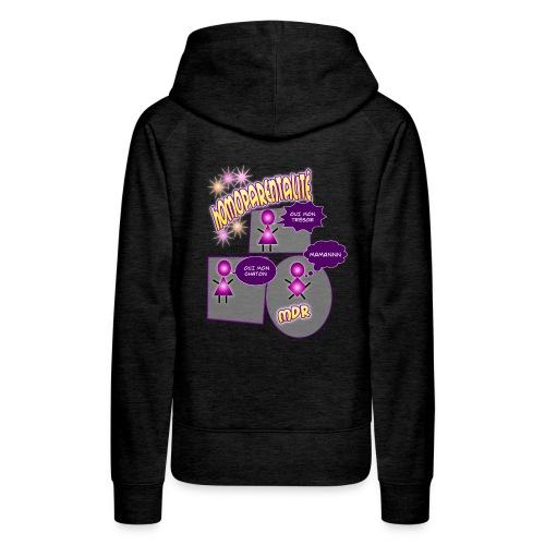 homoparentalite - Sweat-shirt à capuche Premium pour femmes