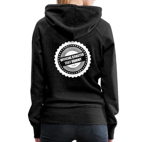 Mannequin officiel de test de montagnes russes - Sweat-shirt à capuche Premium pour femmes