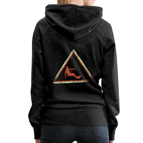 Wir kiten im Dreieck - Frauen Premium Hoodie