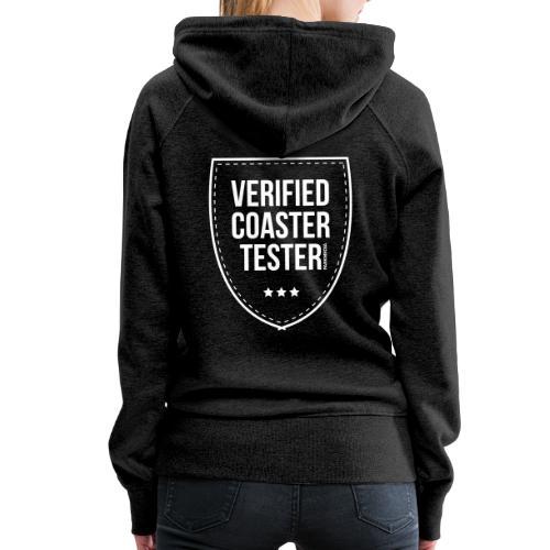 Badge CoasterTester vérifié - Sweat-shirt à capuche Premium pour femmes