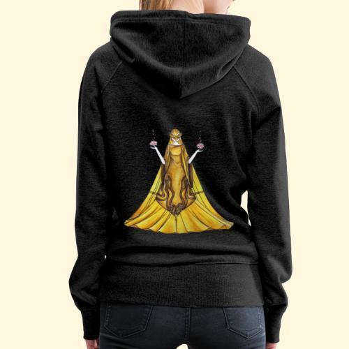 La Justice toute d'or vêtue - Sweat-shirt à capuche Premium pour femmes