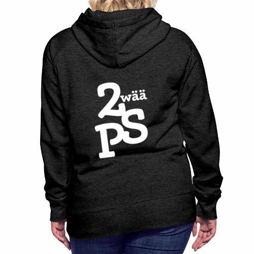ZwaeaePS Logo weiß - Frauen Premium Hoodie