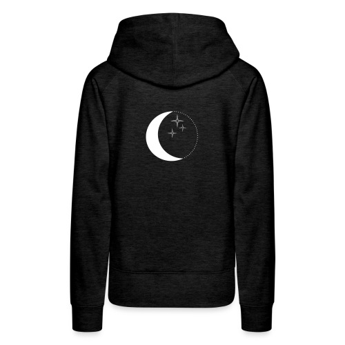 Moon and stars - Frauen Premium Hoodie