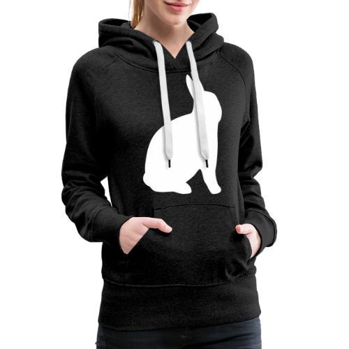 T-shirt personnalisable avec votre texte (lapin) - Sweat-shirt à capuche Premium pour femmes